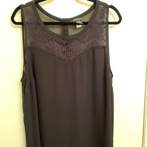 Sheer Sweetheart Inspired Tank with Lace Detail